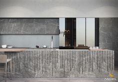 Thiết kế nội thất căn hộ cao cấp bằng gỗ tự nhiên 180m2