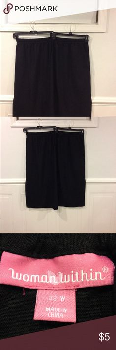 Woman Within 32W skirt good condition Size 32W Woman Within skirt with side pockets good condition Woman Within Skirts