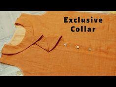Elegant Peter Pan Collar Cutting and Stitching (Very Easy Way) Chudidhar Neck Designs, Neck Designs For Suits, Neckline Designs, Blouse Neck Designs, Collar Designs, Sleeve Designs, Kurti Patterns, Dress Sewing Patterns, Collar Kurti