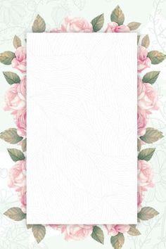 A Small Green Flower Border Flower Background Images, Background Banner, Flower Backgrounds, Flower Wallpaper, Colorful Backgrounds, Flower Border Png, Floral Border, Watercolor Background, Watercolor Flowers