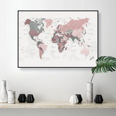 Thanks for the great review Shannon R. ★★★★★!  http://etsy.me/2GNs9Em  #etsy #mapofworld #pinkmap #worldmap #printableart #digitaldownload #pinkgreenmap #worldmap #pinkworldmap #printableart #blushpink