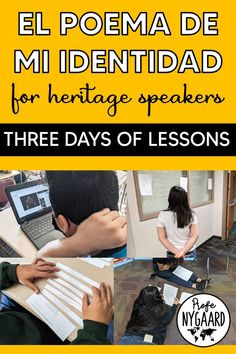 This is a three-day writing project for heritage speakers. Students will participate in four stations to read examples of identity poems, write their own identity poem or short story in Spanglish, and participate in peer corrections. El poema de mi identidad Instructions & Rubric Identity Poem Examples Identity Short Story Examples Station A-D Instruction Sheets Station C Reflection Sheet Station D Identity Poem Re-ordering Poems #heritagespeakers #identidad #poema High School Spanish, Ap Spanish, Spanish Teacher, Spanish Class, Teaching Spanish, Short Story Examples, Short Stories, Identity Poem, Passed The Test