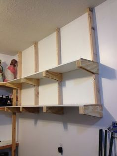 Thank you do it yourself home projects from ana white garage shelves to keep your small appliances small statue minimalist rack white wall garage shelves garage storagediy solutioingenieria Image collections