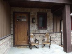 View our collection of porch and deck photos of lake, mountain and cabin homes designed by Max Fulbright.
