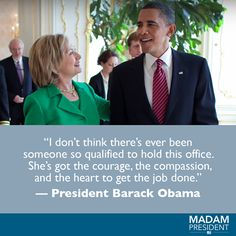Madam President's photo. Hillary For President, Hillary Clinton 2016, Madam President, Hillary Rodham Clinton, 2016 Presidential Election, How To Apologize, Best Quotes, Fun Quotes, Political News