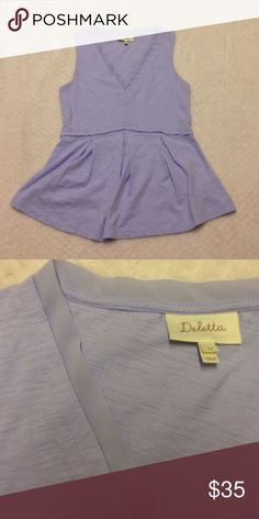 ANTHROPOLOGIE DELETTA Top XS periwinkle Deletta tank bought at Anthropologie. Never worn. Excellent condition. Anthropologie Tops