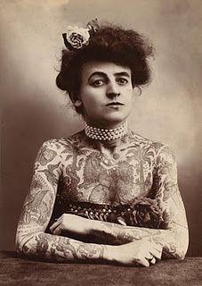Photograph, tattooed woman, 1907
