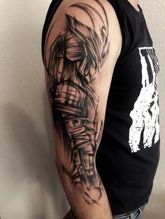 Tattoo Zabityy Kot - tattoo's photo In the style Whip Shading, Male, Warrio Japanese Tattoo Designs, Japanese Sleeve Tattoos, Tattoo Designs Men, Men Henna Tattoo, Leg Tattoo Men, Dragon Tattoos For Men, Arm Tattoos For Guys, Sketch Style Tattoos, Tattoo Sketches