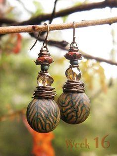 And Summer Turned to Autumn ~ 52 Earrings: week 16 by TreeWingsStudio, via Flickr