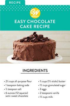 Cake Recipes For Beginners, Baking For Beginners, Beginner Baking Recipes, Homemade Cake Recipes, Cookie Recipes, Easy Birthday Cake Recipes, Easy Homemade Cake, Food Cakes, Cupcake Cakes