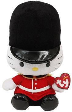 TY Beanie Baby - HELLO KITTY ( ROYAL GUARD ) (UK Exclusive) (8 inch) TY BEANIE BABIE http://smile.amazon.com/dp/B007PZ8M6M/ref=cm_sw_r_pi_dp_lmGStb14Z41FZEC4