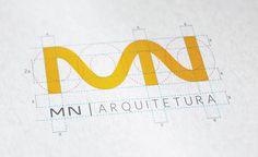 Estudo para a criação do logo da MN Arquitetura.