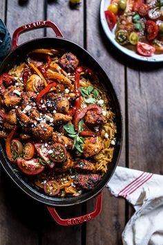One-Pot Greek Oregano Chicken and Orzo with Tomatoes in Garlic Oil