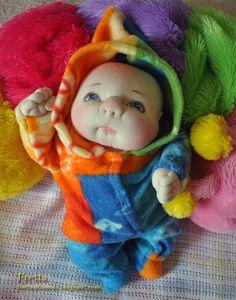 Fretta's OOAK Soft Sculpted Newborn Baby by FrettasLovableDolls