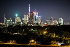 Toronto Skyline at Night Toronto Skyline, San Francisco Skyline, Night, Travel, Viajes, Trips, Tourism, Traveling
