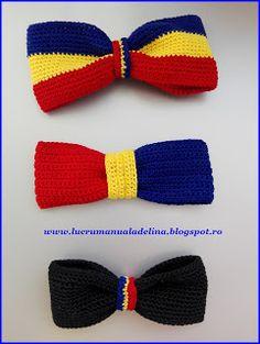 lucru manual adelina: Papion tricolor Romania