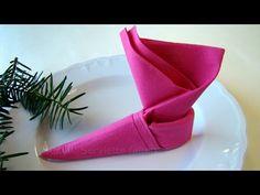 Weihnachten: Servietten falten - Weihnachtsdeko selber machen - 2016 - YouTube
