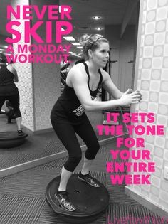 Never miss a Monday! Put that workout DVD in, press play and commit to doing something fantastic for your body. We all have days when it you want to skip workout, take care of everyone else, and place ourselves on the back burner. But our health is important. Putting yourself first isn't selfish, it's necessary.