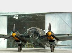 A Heinkel He-111 Luftwaffe medium bomber.
