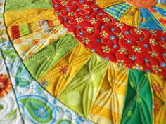 """This time it is Sharon's (Em's sister) quilt. This is a cute quilt inspired by the quilt pattern """"Everyday Best"""" by Piece O Cake. Sharon did a wonderful job piecing it and I was happy to quilt it. This was a simpler quilt job for me - I got it done in 5 hours."""