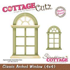CottageCutz Classic Arched Window (4x4)