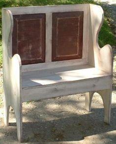 Rustic/Prim Porch Bench