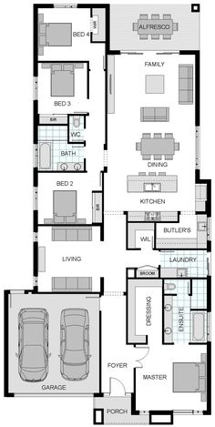 Australia's largest builder of steel frame homes and the new home construction builder of Victoria. Best House Plans, Dream House Plans, House Floor Plans, Steel Frame House, Architectural House Plans, New Home Construction, Sims House, Home Design Plans, House Layouts
