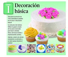 Método Wilton de Decoración de Pasteles Wilton Cakes, Cupcake Cakes, Icing Frosting, Cookies And Cream, Sweet Cakes, Cakes And More, Charlotte Russe, Food And Drink, Desserts