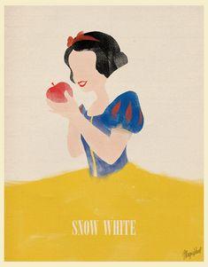 Snow White Minimalist Poster - disney-princess Photo