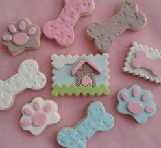 Cookies Fondant, Cupcake Cakes, Cupcakes, Pasta Ballina, Show Da Luna, Paw Patrol Birthday, Chocolate, Dog Treats, Cookie Decorating