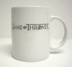 Logo plata taza ceramica blanca - game of thrones - 9,95€