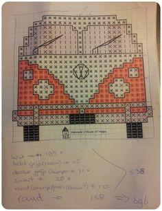 Pdf pattern for a crocheted splitty campervan shoulder bag C2c Crochet, Crochet Cushions, Crochet Pillow, Tapestry Crochet, Crochet Squares, Crochet Stitches, Pixel Crochet Blanket, Crochet Hats, Cross Stitching