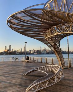 New York Attractions, Brooklyn Park, Williamsburg Brooklyn, Manhattan Skyline, East River, Opera House, Bike, Couple, Sunset