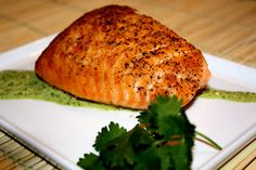 Mr and Mrs P: Baked Salmon with Basil Aioli