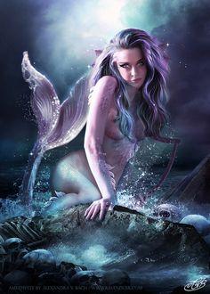 ..French artist AlexandraVBach (Alexandra V Bach) - DeviantArt  http://alexandravbach.fr/