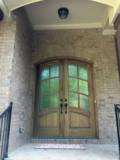 Exterior Front Doors Minwax Dark Walnut And Cedar Shakes