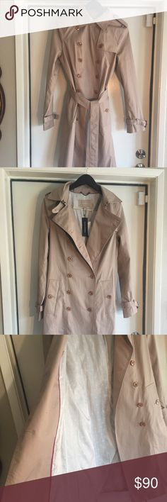 Banana Republic Trench Coat M NWT A staple in any wardrobe. Classic and tailored. Constructed beautifully as would be expected by Banana Republic. Fits true to size and is dress length. So beautiful! Water resistant. Banana Republic Jackets & Coats Trench Coats