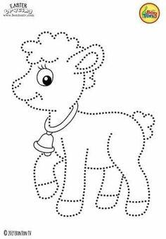 الرسومات المنقطة تساعد الطفل على التركيز و تعلمه الرسم بطريقة جميلة | مدونة جنى للأطفال Easter Bunny Colouring, Easter Coloring Pages, Coloring Book Pages, Coloring Pages For Kids, Preschool Writing, Free Preschool, Preschool Printables, Preschool Worksheets, String Art Patterns