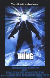 B-Movie Bunker Episode 353:  The Thing (1982) - http://www.guyinabunker.com/2016/10/25/b-movie-bunker-episode-353-the-thing-1982/
