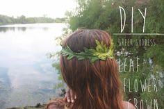 DIY Art & Crafts : DIY Fall Inspired Greek Goddess Leaf Crown