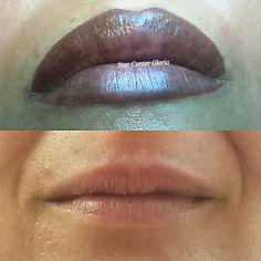 Permanent make up lips