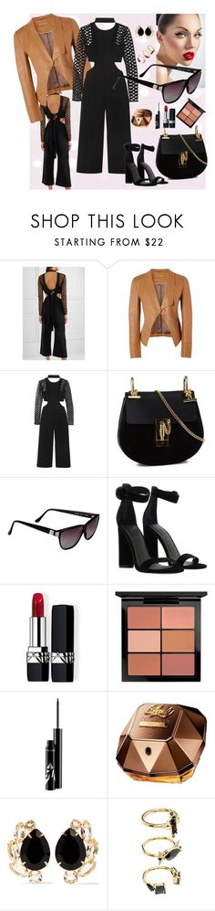 """Captivating style"" by fantastic-sunglasses ❤ liked on Polyvore featuring self-portrait, Richards Radcliffe, Chloé, Versace, Kendall + Kylie, Christian Dior, MAC Cosmetics, Paco Rabanne, Bounkit and Noir Jewelry"