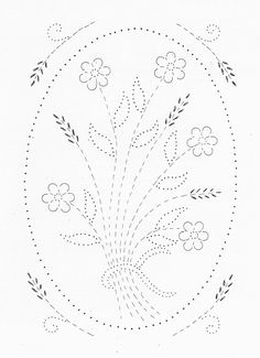 Tin Punch Patterns :: P 1042A Wheat Flowers 10 x 14 - Pierced Tin Designs