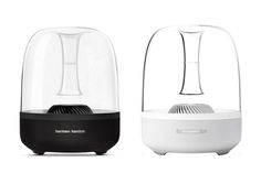 "Harman Kardon Aura Speaker - a powerful portable wireless hi-fi speaker doubling as a work of art with an ""excellent"" rating from Pcmag.com"