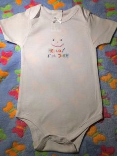Custom made. Sweet gift for your newborn with his/her name on it. Comes in four sizes Custom Made, Sweet, Gift, Clothing, Cotton, Baby, Crafts, Outfits, Fashion