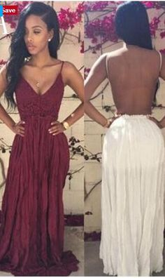 Spaghetti Straps Long Backless Prom Dresses bb4c607d065e