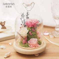 Everything made of Glass Flower Box Gift, Flower Boxes, Flower Crafts, Flower Art, Dried Flowers, Fresh Flowers, Memorial Flowers, Preserved Roses, How To Preserve Flowers