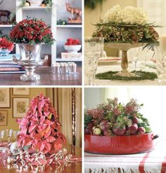 Christmas Decorations Dining Table Centerpiece
