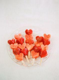 Vattenmeloner och jordgubbar