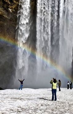 Skogafoss Waterfall in South Iceland- Kit Cat saw this last summer on vacation.  Iceland is beautiful!